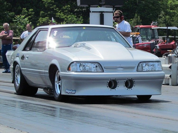 Drag racing Don burndown Burton twin procharged foxbody Ford