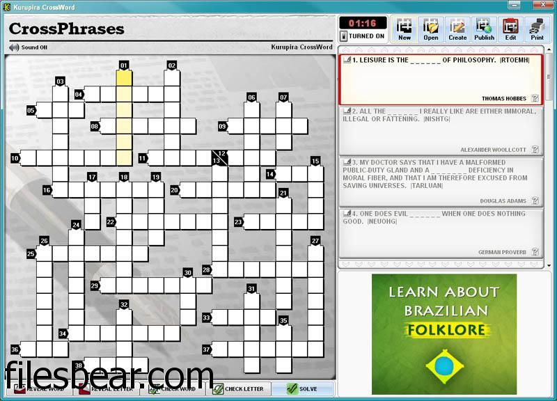 Pin By Files Bear On Free Windows Games Crossword Puzzles