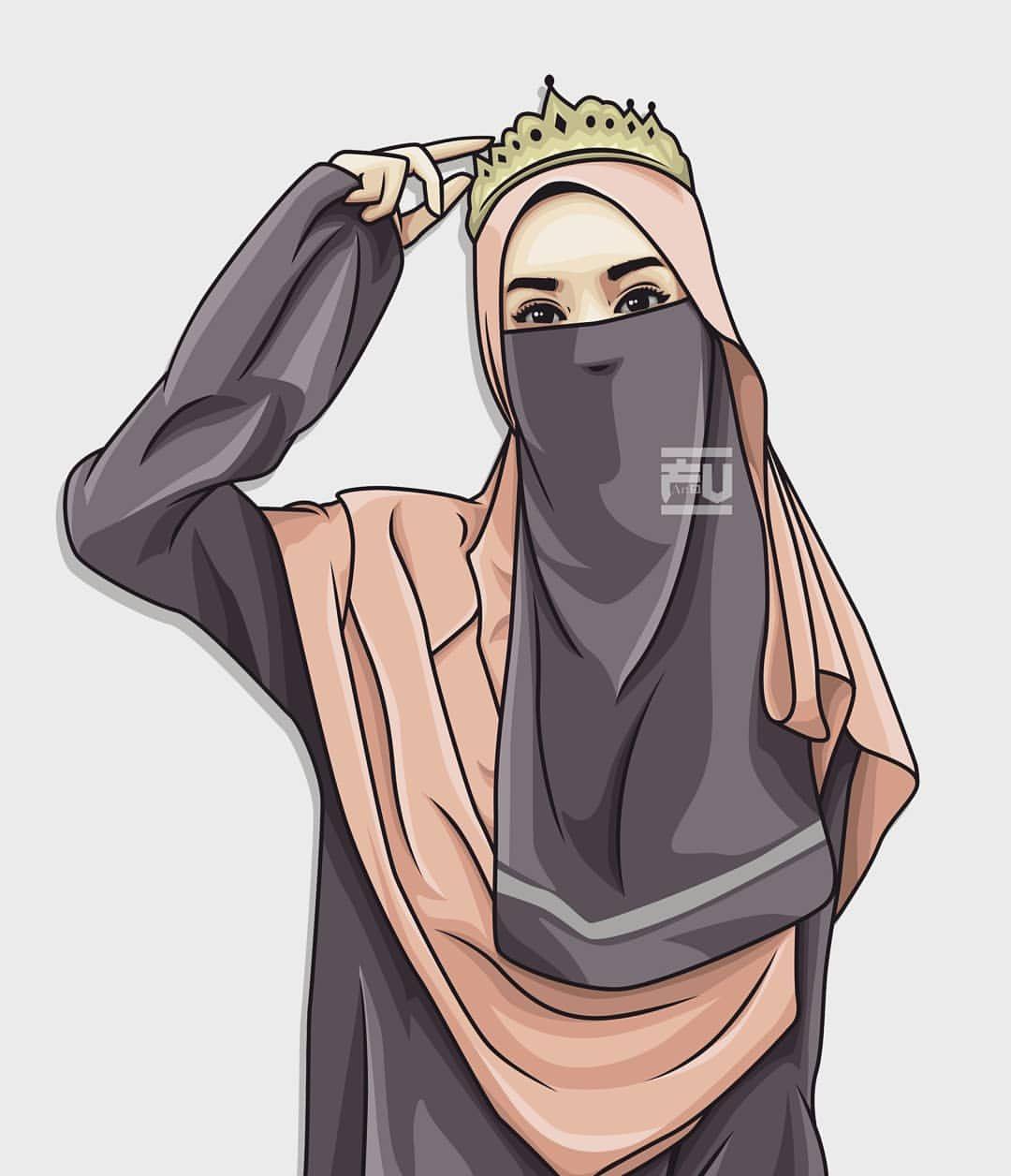 vector #hijab #niqab  Hijab drawing, Girl drawing, Hijab cartoon
