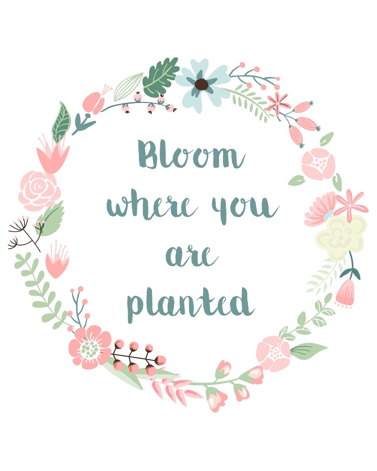 Free Printable Bloom Where You Are Planted Link Love Home