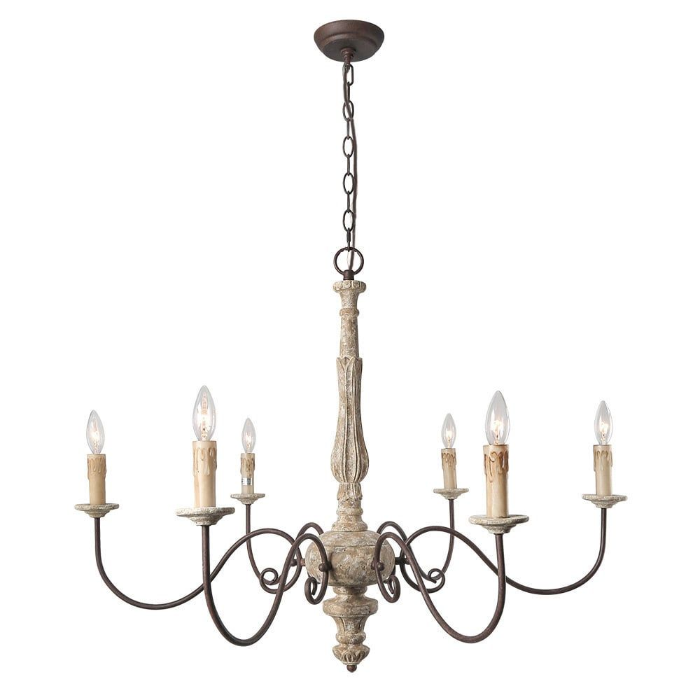 Lnc light country chandelier lighting rustic pendant lights