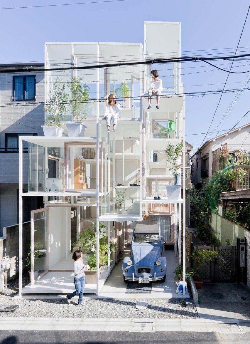Casa transparente, Japón | Casas incomuns, Fachadas de casas modernas, Casas estranhas