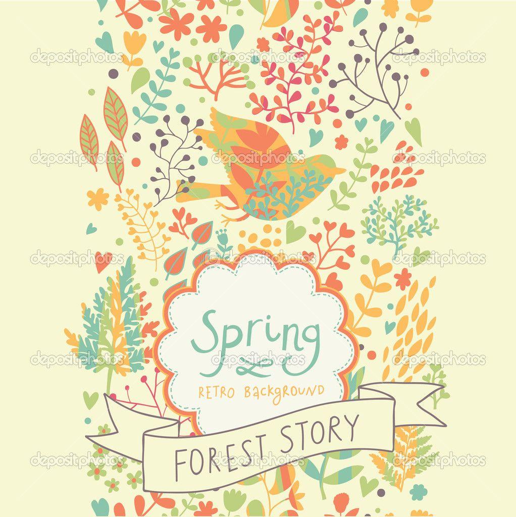 depositphotos_25360441-stock-illustration-bright-vintage-seamless-pattern-spring.jpg (1022×1024)