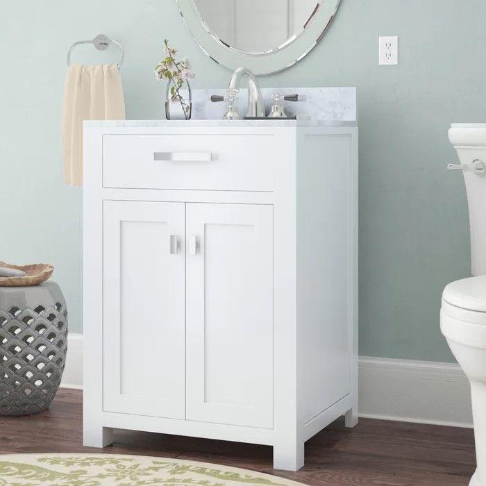 Mayfair 24 x 21, marble top | Bathroom vanity, Single ...