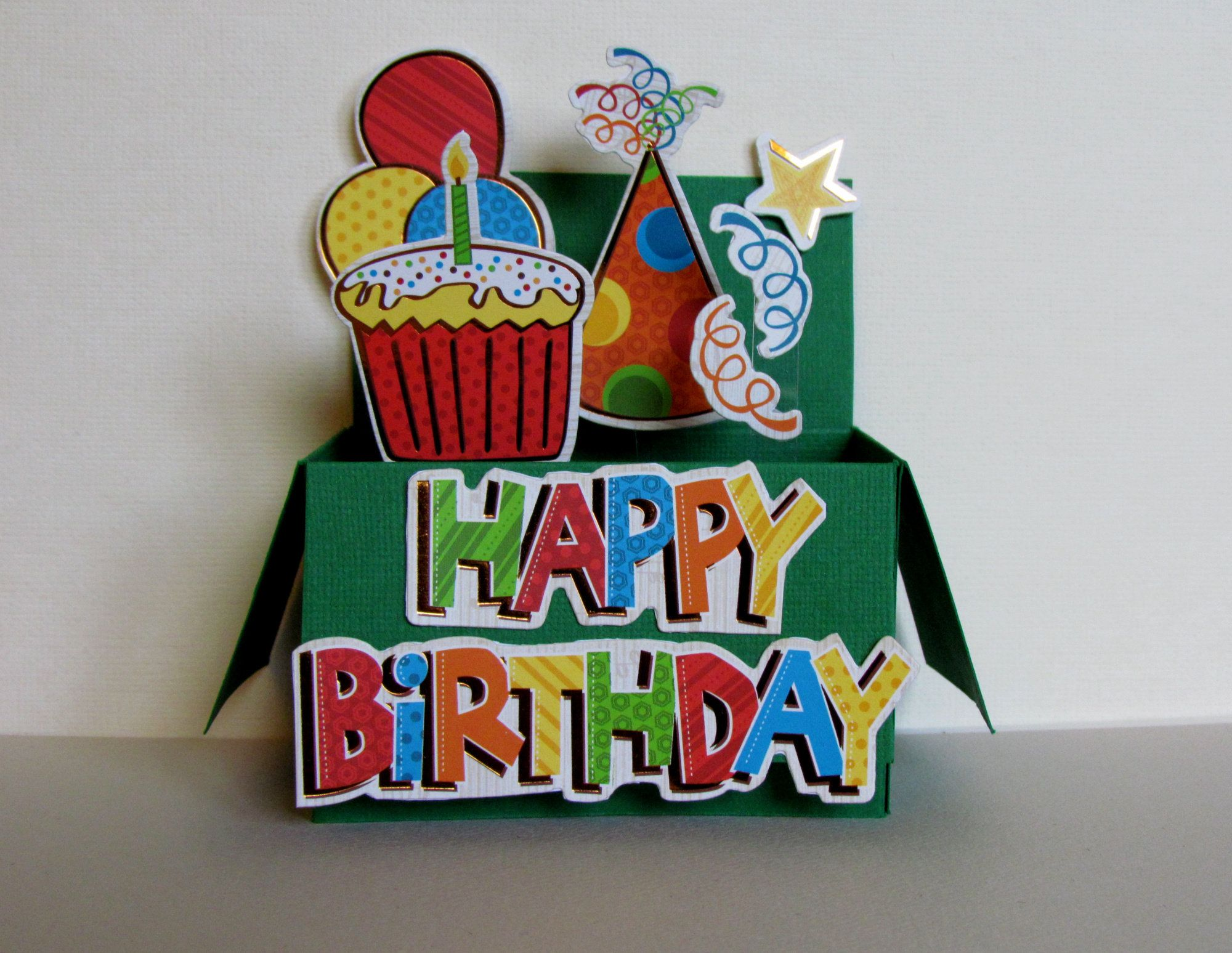 Pop Up Card Happy Birthday Birthday Cake Happy Birthday Greeting Cards Balloons Handma Happy Birthday Greeting Card Birthday Greeting Cards Birthday Cards