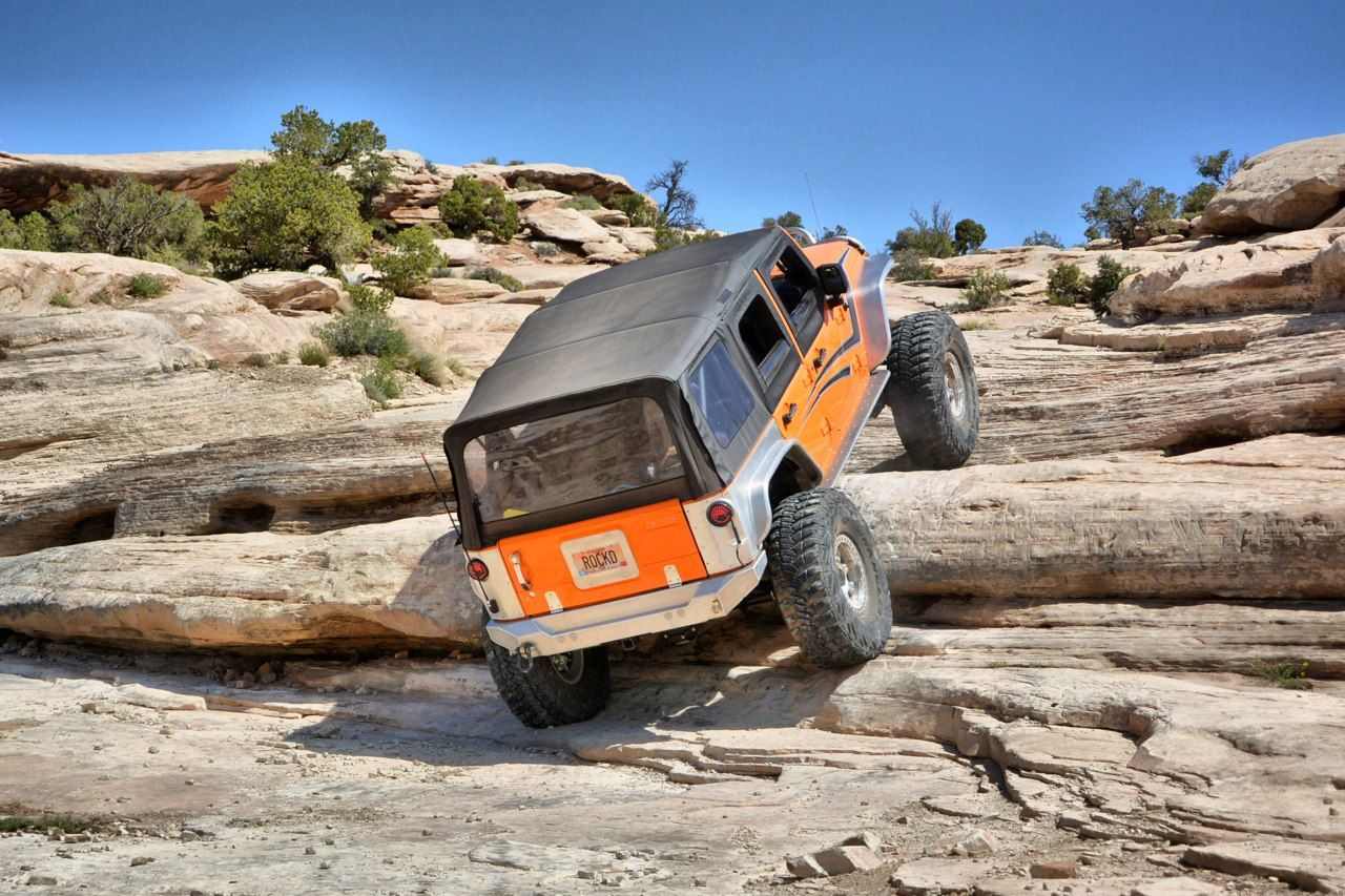 Crawling the steps out in Moab. #jeep #jeeping #offroad #offroading #wheeling #desert #moab
