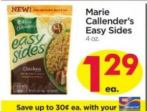 GIANTEAGLE:  FREE Marie Callender's Easy Sides (10/31 - 11/6!!)