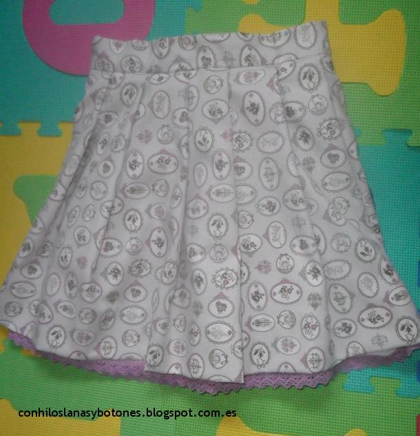Mi falda de tablitas