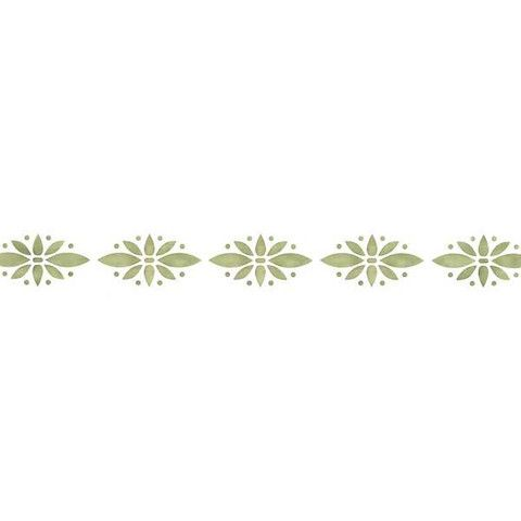 Simple Floral Border Wall Stencils