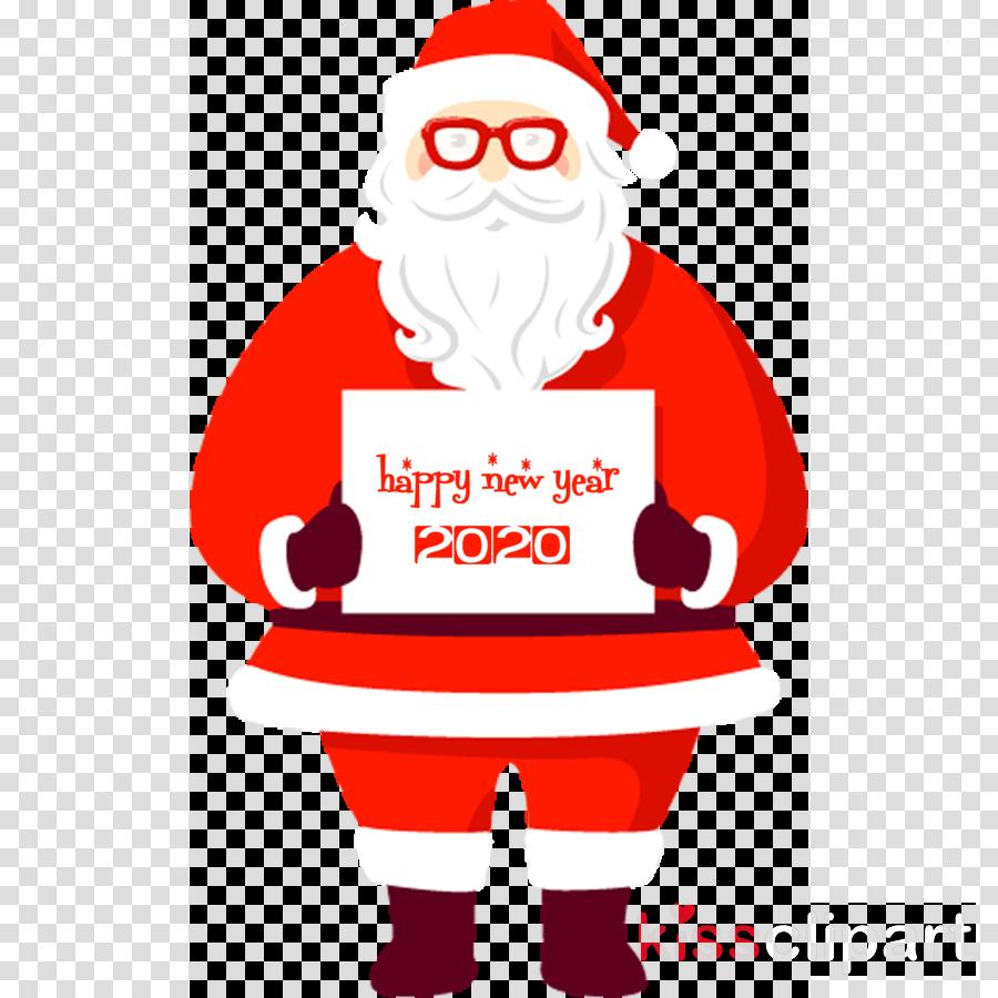 happy new year 2020 santa Clipart in 2020 Happy new year