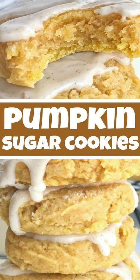 Glazed Pumpkin Sugar Cookies | Pumpkin Cookies | Pumpkin Recipe | Glazed pumpkin sugar cookies are the best way to enjoy pumpkin spice and Fall flavors! Soft-baked & thick pumpkin sugar cookies are topped with an easy pumpkin spice glaze. #pumpkin #fallrecipes #pumpkincookies #cookies #dessert #recipeoftheday #pumpkinsugarcookies