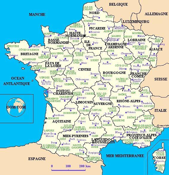 French map modern France Pinterest France