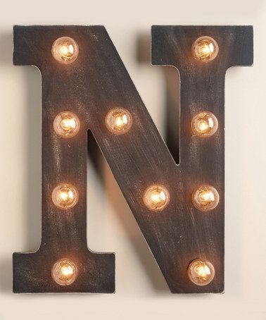 Wood Marquee Letter N Marquee Lights Globe Decor Globe Bulbs