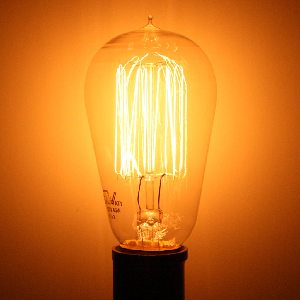 Satco 02423 60 Watt 120 Volt St19 Cage Style Filament Medium Screw Base Clear 60st19 Cl 15s 120v Vintage S2423 Antique Light Bulbs Light Bulb Bulb