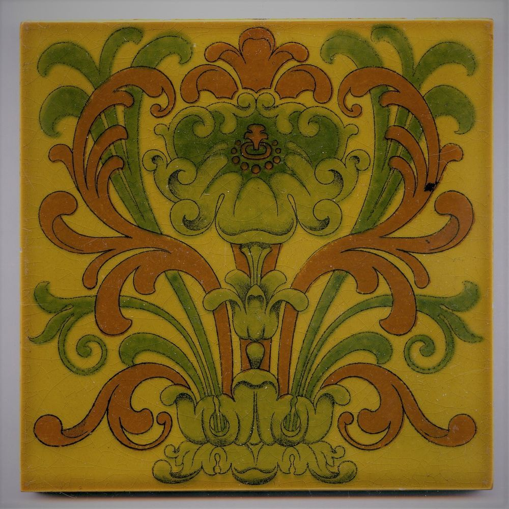 Transfer Printed 6 Sq Art Nouveau Tile By Pilkington S C1905 Antiques Architectural Antiques Tiles Ebay Art Nouveau Tiles Art Art Nouveau