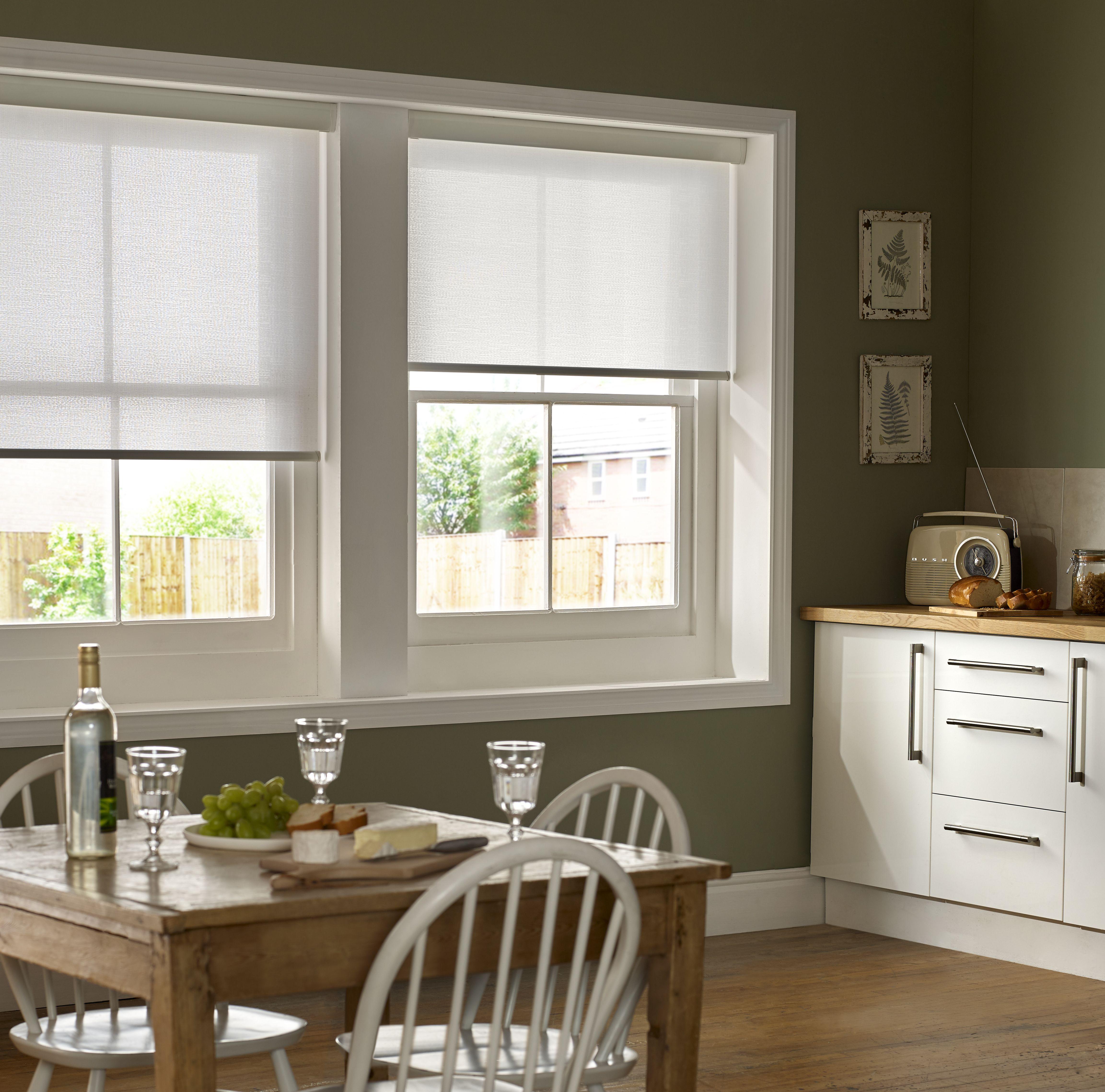 White Kitchen Dark Floors Colorful Window Treatment: BLING BLING FOR YOUR WINDOWS! ~CUSTOM ROLLER SHADES