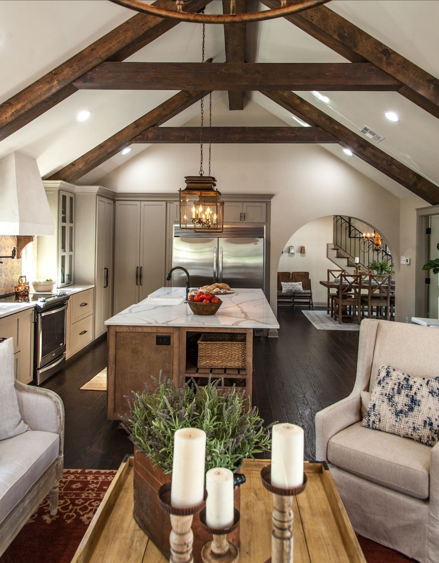 I could get behind some beams like these | Home | Pinterest ...