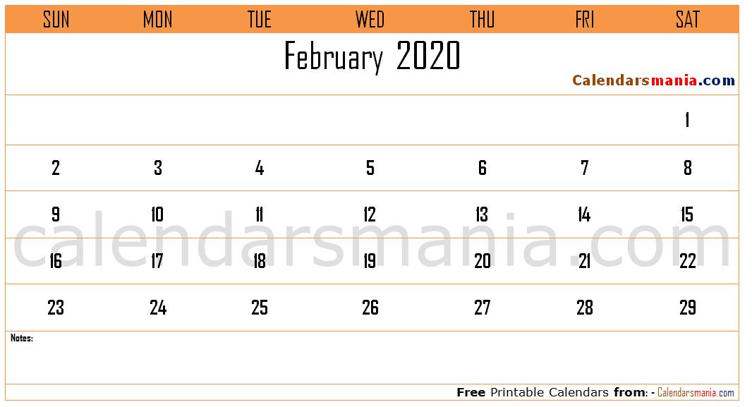 Electronic February 2020 Calendar Feb 2020 Calendar | February 2020 Calendar | Calendar, Calendar