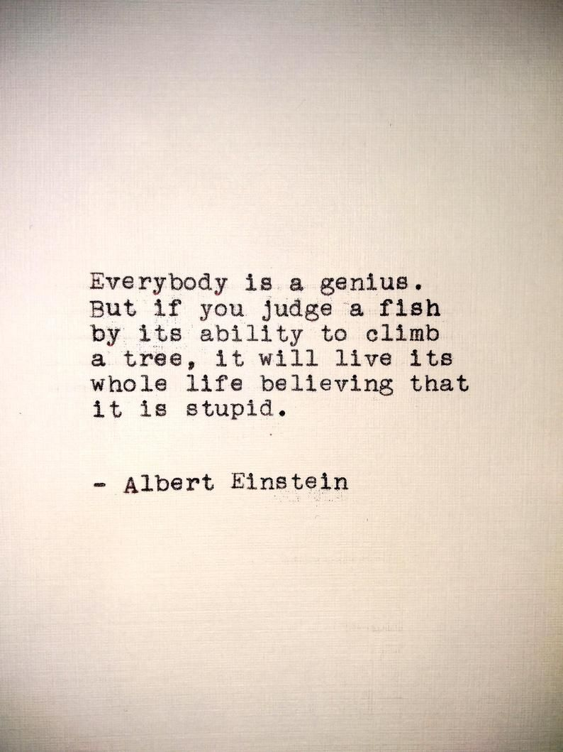 Photo of Einstein Handtyped Quote | 5×7 Print | Typewriter Quote Prin…