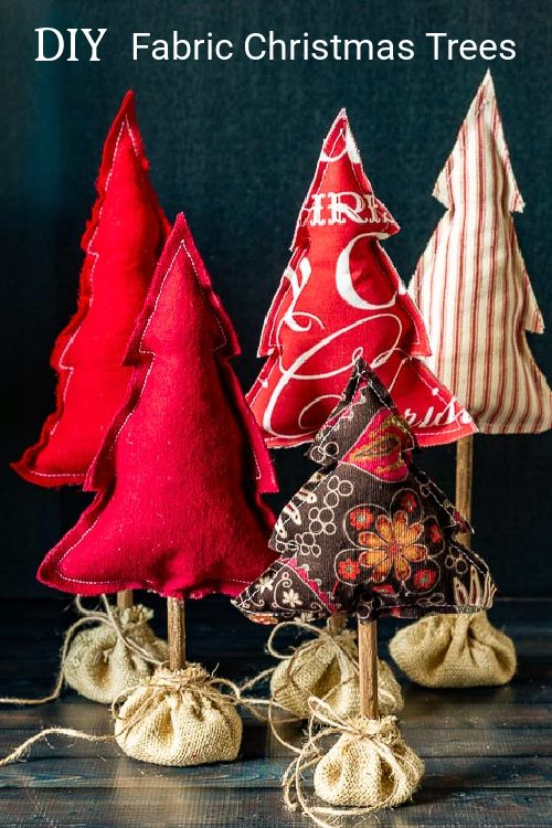 How to Make Stuffed Fabric Christmas Trees for You
