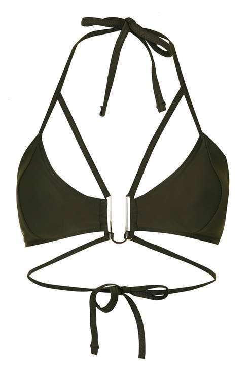 **Strappy Hardware Bikini Top by Rare