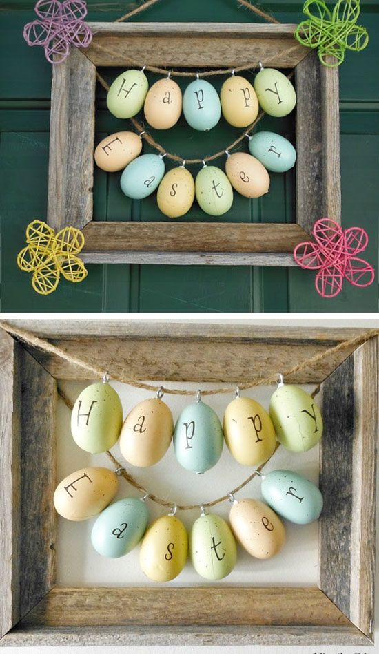30+ Genius DIY Easter Decorations You Need to Make! | Frame wreath ...