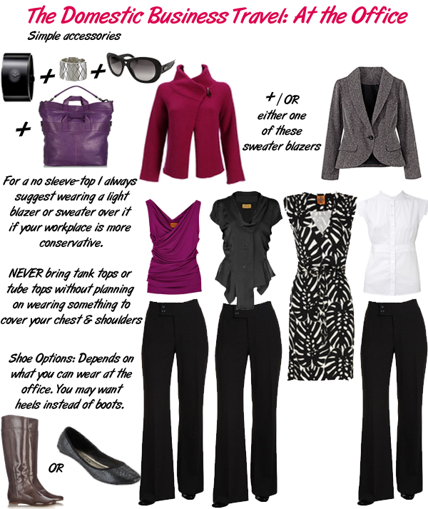 Travel Domestic-Business Outfits
