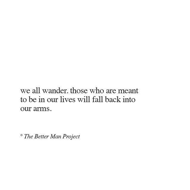 we all wander