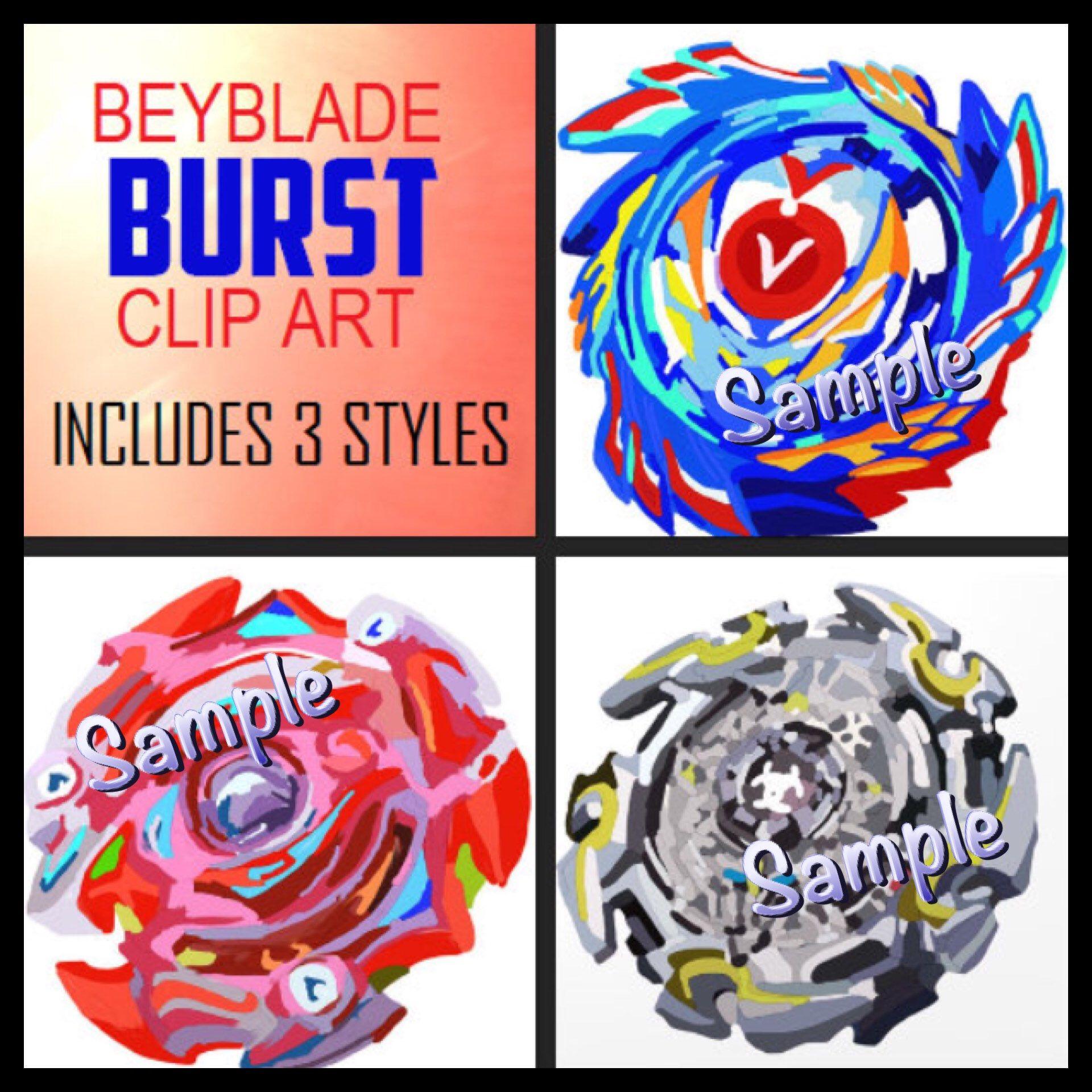 DIGITAL Clip Art Beyblade Burst Spinners PNG files