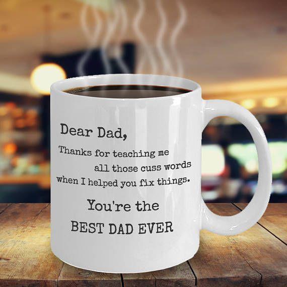 Father/'s Day Gift idea For Dad Funny Coffee Dear Dad Novelty Ceramic Mug