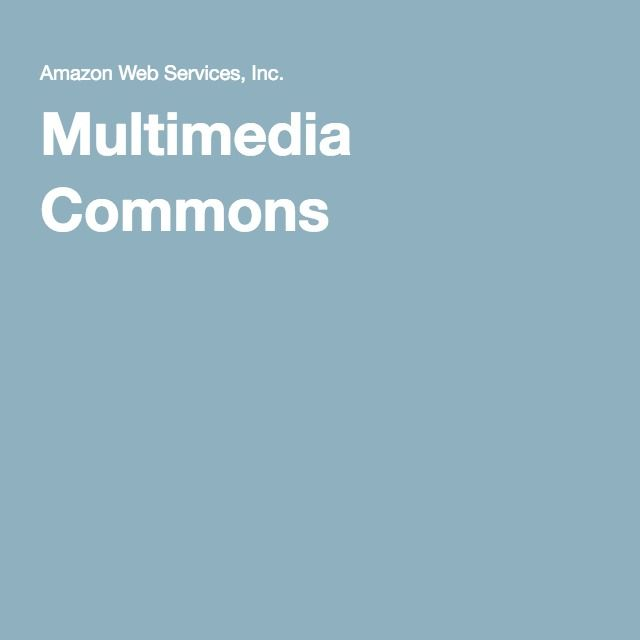 Amazon data processing sets: Multimedia Commons