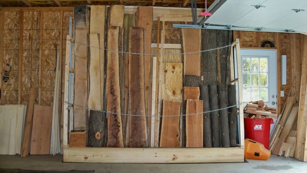 Lumber Storage Rack Portamate Pbr 001 Six Level Wall Mount Wood Anizer That Holds Up To 100 Lbs Per Ideal For Both Indoor And Outdoor Use