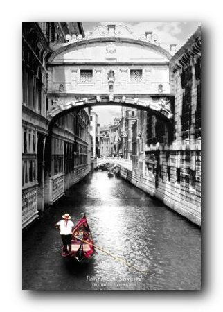 Amazon com venice italy bridge of sighs scenic black white poster poster
