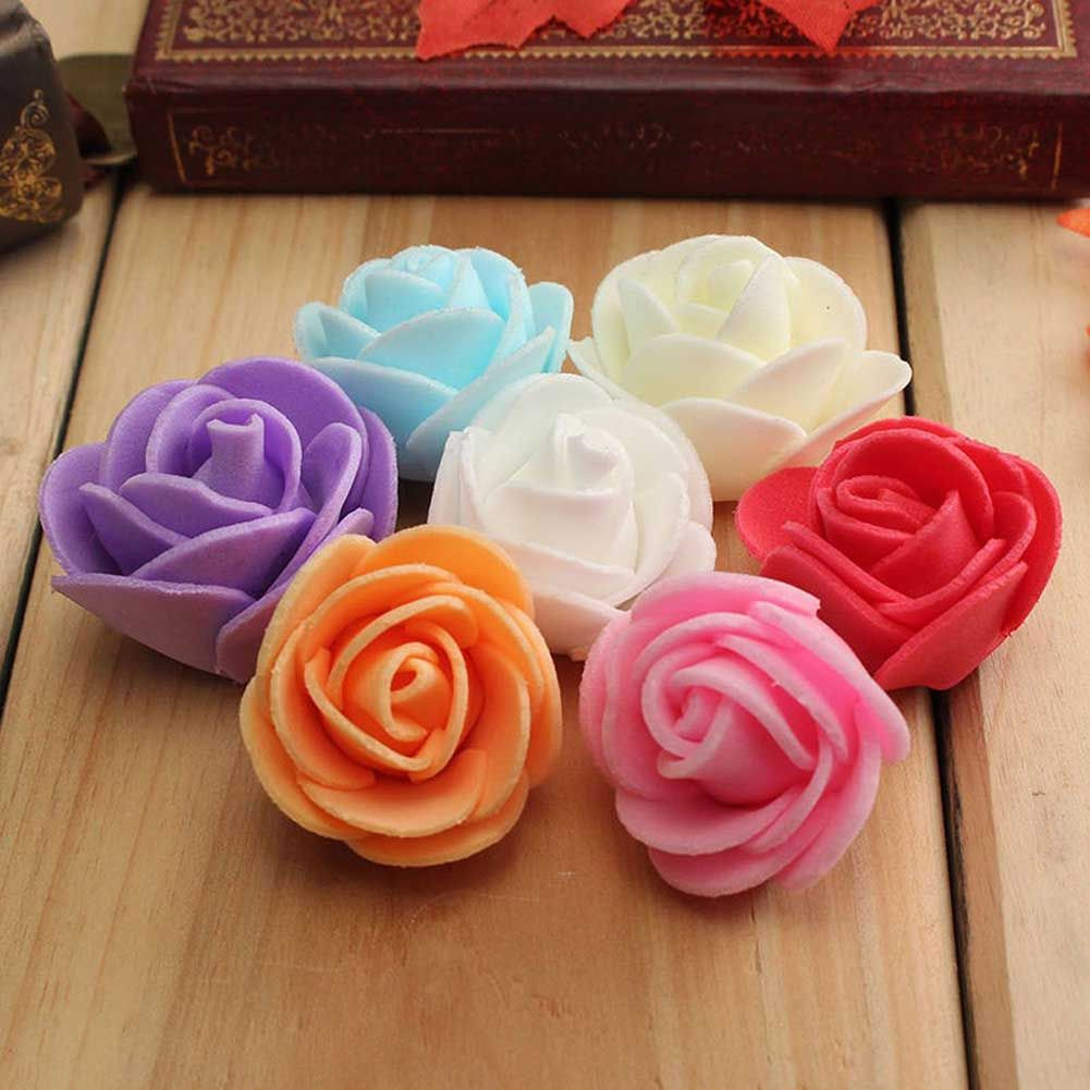 50pcspack Creative Bubble Head Rose Wreath Pectoral Flower Bouquet