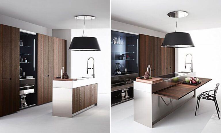 20 Cucine Con Tavolo Estraibile A Scomparsa Mondodesign It Kitchen Design Small Bars For Home Kitchen Design