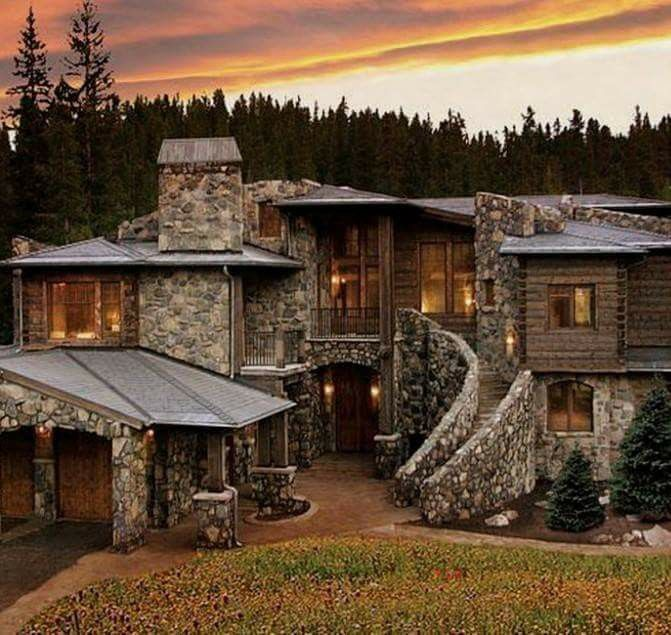 Charmant Pin By Miquela Alderete On Things I Like For My Home..   Pinterest   Cabin,  Stone And House