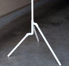 PVC Light Stand diy