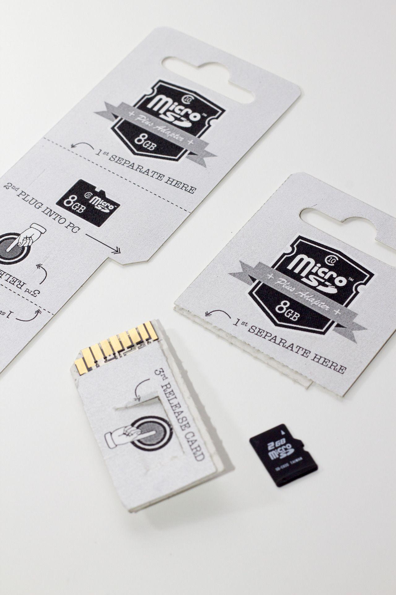 micro-SD card packaging idea