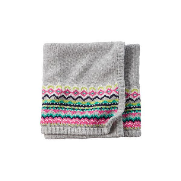 Fair Isle Blanket ($20) ❤ liked on Polyvore featuring home ...