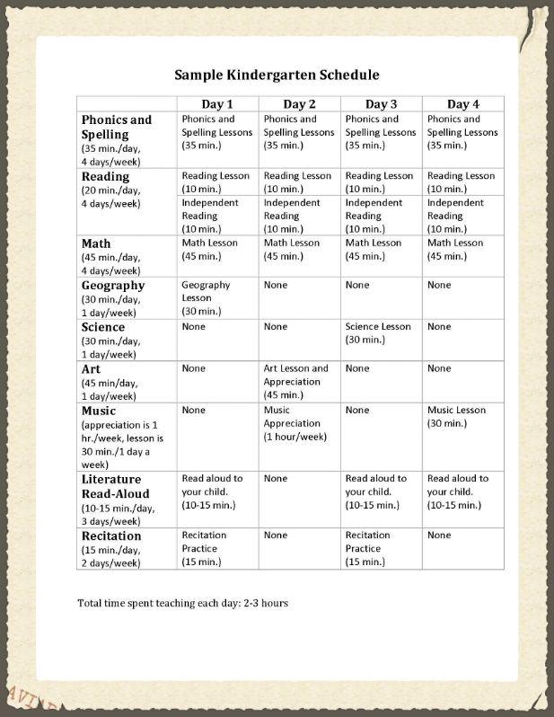 Sample Kindergarten Schedulejpg Like this schedule but replace - sample kindergarten lesson plan template