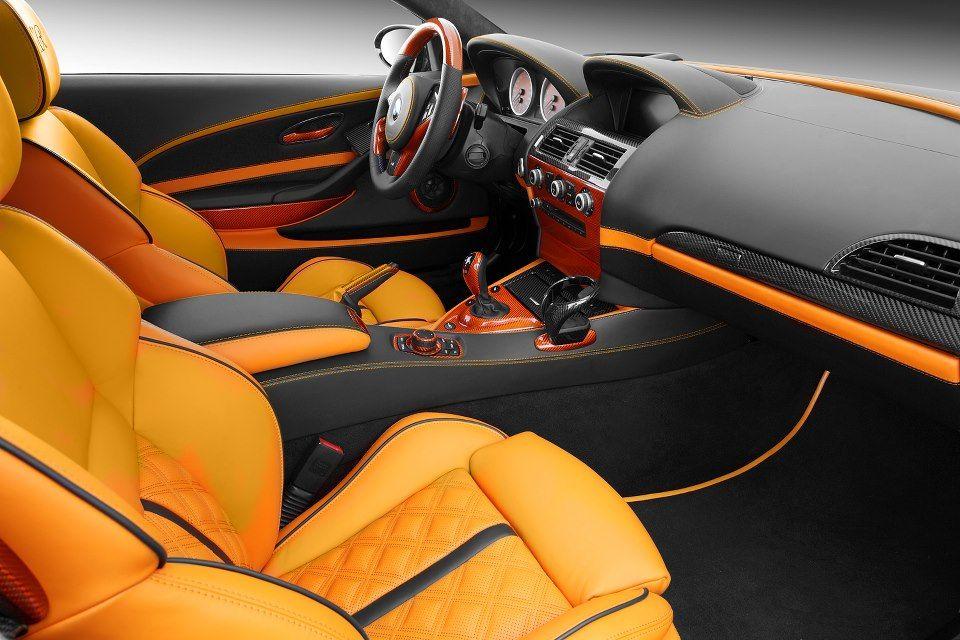 Topcar bmw e m is orange black interior auto addiction