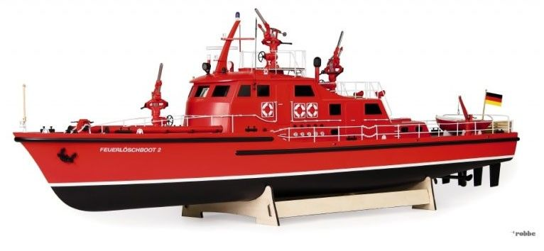 Robbe Dusseldorf Fire Fighting Boat - Almost Ready To Run - available from Hobbies, the UK's favourite online hobby store!