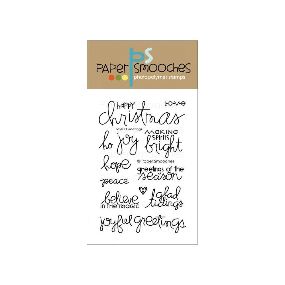 Paper Smooches Clear Stamps 4x6 Joyful Greetings