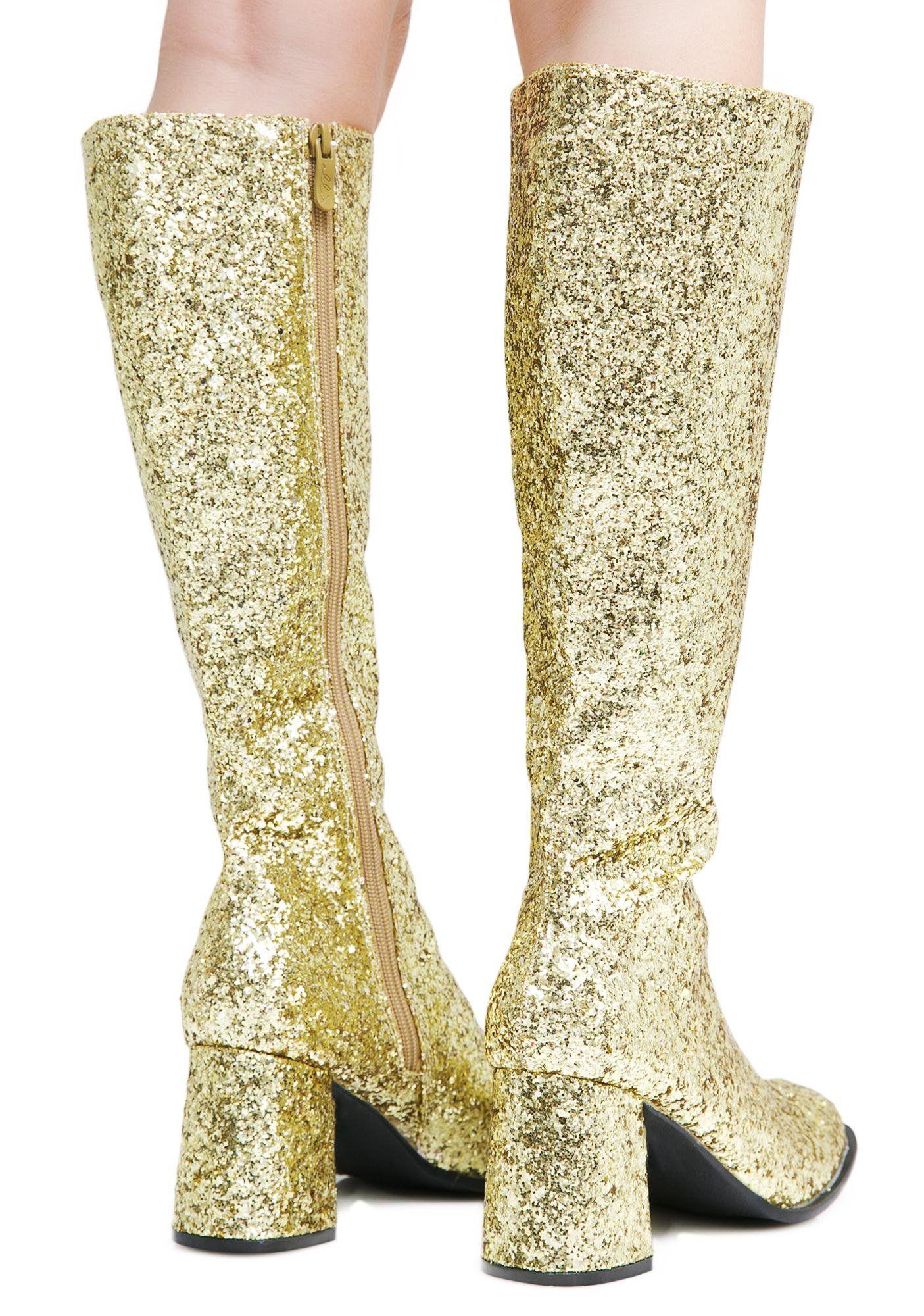 Golden Go Go Baby Glitter Boots costumez Pinterest