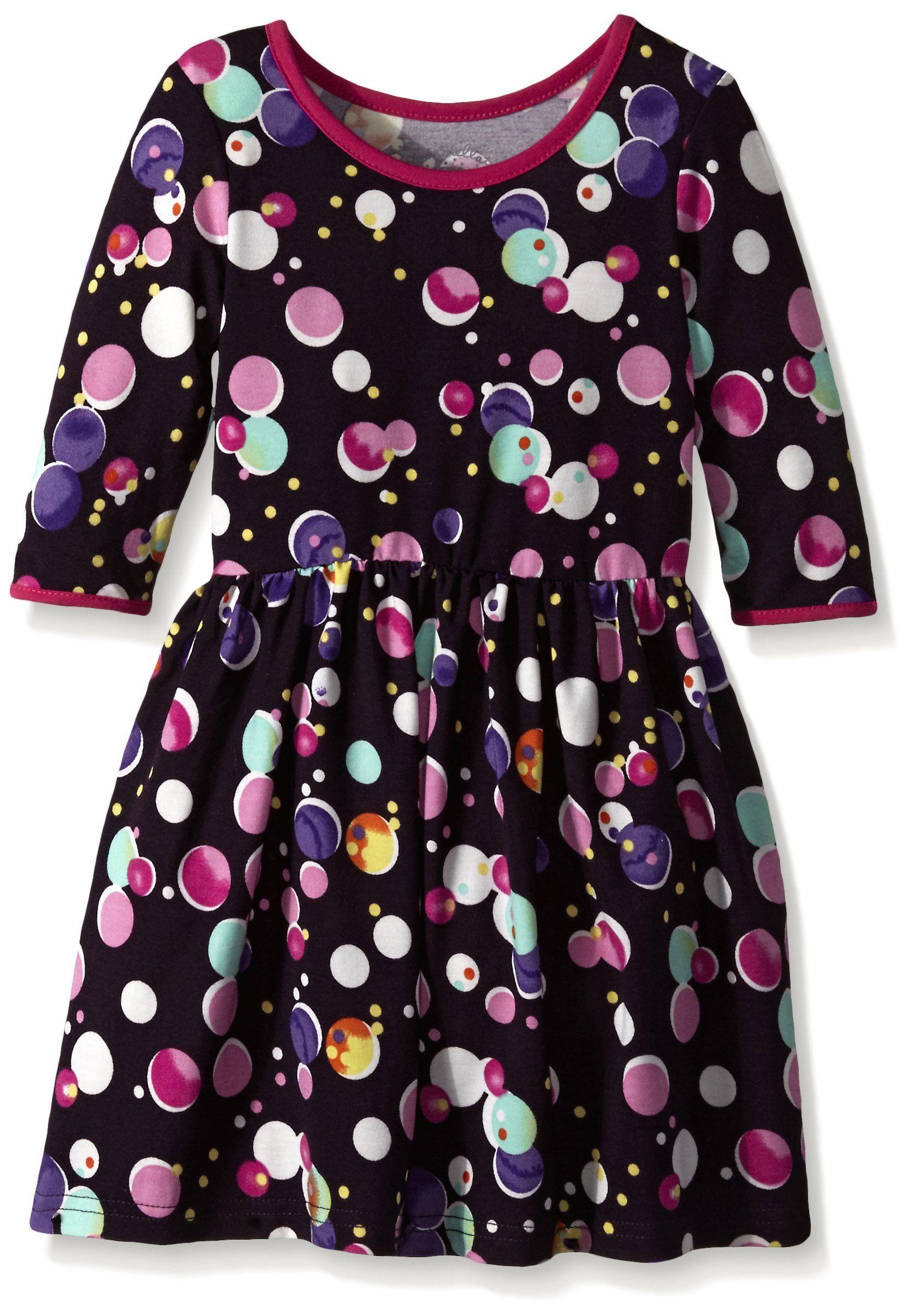 Marmellata Little Girls Toddler Bubble Print Knit Dress Multi 3T