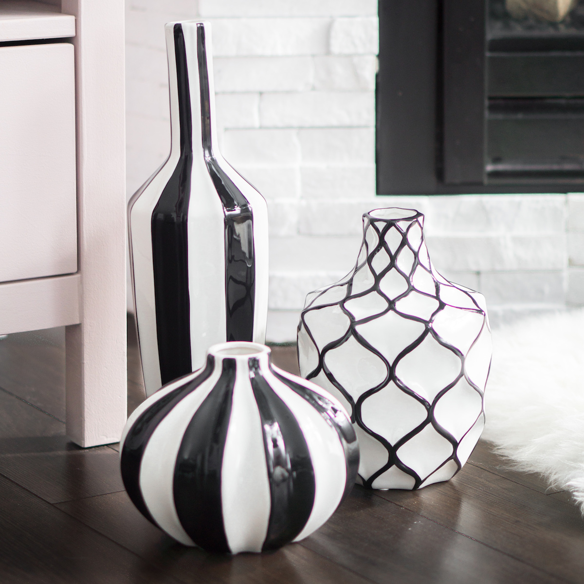 A Matte Black Kitchen Makes A Bold Statement In This: Abstract Vase Collection By Torre & Tagus
