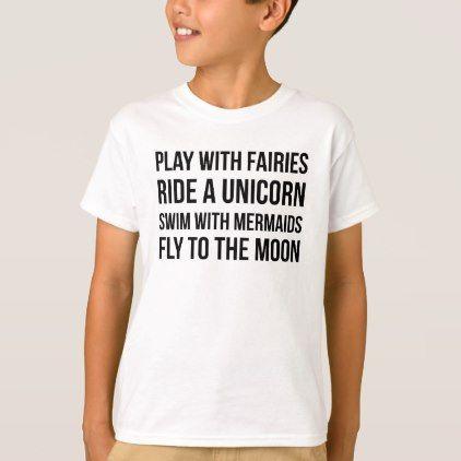 81e9d74d #Play With Fairies Ride A Unicorn Swim With Mermaid T-Shirt - #funny # unicorn #unicorns #horse #horses #magical #colourful #fantasy
