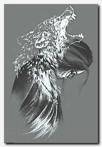 Animal 08a Myth Legend Human Like I Raven Art Wolf Tattoos Drawings