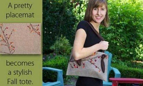 Fall Tote – Free Sewing Tutorial | pattern purses handbags | Pinterest