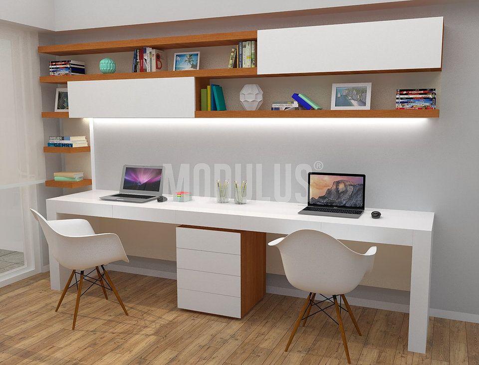 Escritorios modernos escritorios minimalistas for Diseno de muebles de oficina modernos